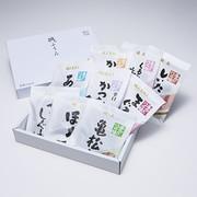 磯ふうみ(T34) 山上水産株式会社 静岡県 ご飯やお茶漬け、おにぎりにぴったりな鰹角煮、鮪角煮と佃煮などの詰め合せ。