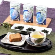 それぞれの香りと味わいを楽しむ おくみどり茶 三姉妹セットB (透明プラ缶仕様)