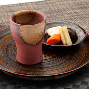 良質の陶土を焼き締めた赤みの強い味わい 備前焼フリーカップ胡麻【送料無料】