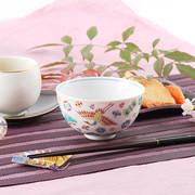 色鮮やかな九谷の色彩で描かれた 伝統の文様 宝尽くし 飯碗【送料込】