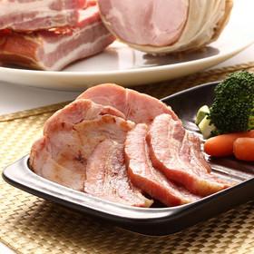 自家養豚ローズポーク 新鮮熟成で香り高い〈 ロ-スハム・ベ-コン詰合せ 〉   学園手造りハムの会・茨城県